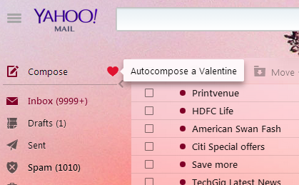 Compose Valentine Mail